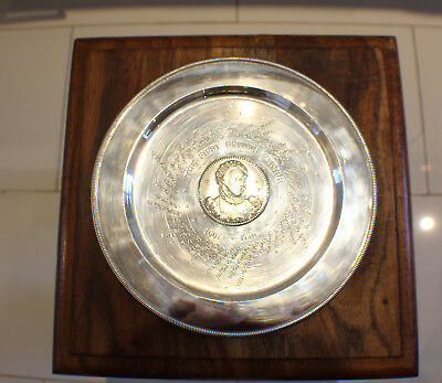 Sterling Solid Silver Large Dish British Empire 1607-1776 London 1975 410 Grams