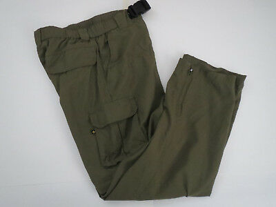 BOY SCOUTS OF AMERICA Youth L Uniform Pants / Shorts Cargo switchback BSA Green