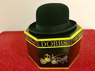 Vintage Dobbs Fifth Ave Derby Hat  W/ Original Dobbs 5th Avenue, NY Box Sz 7 1/4