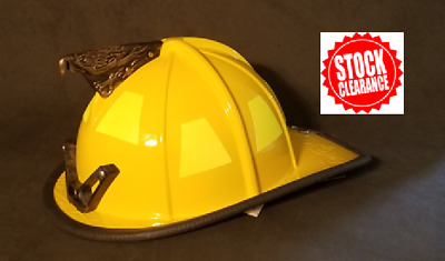 Yellow Traditional Firefighter Helmet Shell (Shell ONLY)