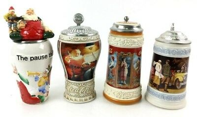 """Coca Cola collectors stein lot 1994 """"Pause That Refreshes"""", and others!"""