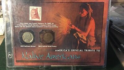 America's Official Tribute To Native American's Coin And Stamp Set