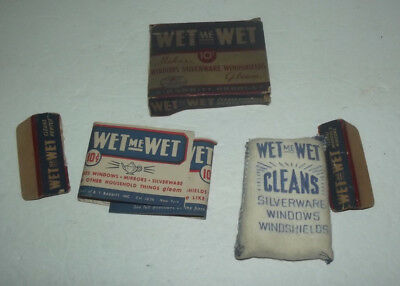 Vintage Wet Me Wet Window Silverware And Windshield Cleaner With Box