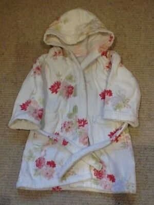 18-24 months little white company dressing gown girls soft floral