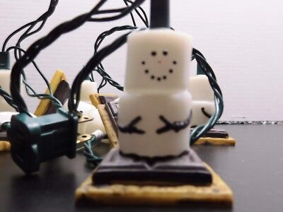 10 S'mores by Midwest Christmas Light String Blow Mold Snowman-Camping, Cabin