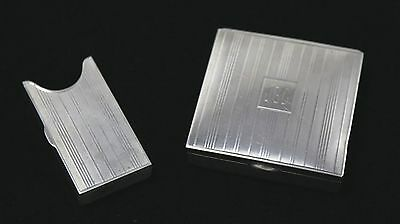 Vintage Sterling Silver Match Safe and Monogrammed Snuff Box