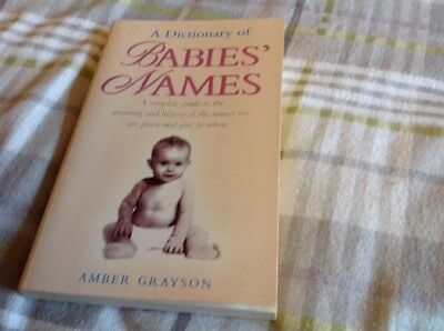 Parenting Book Babies Names By Amber Grayson