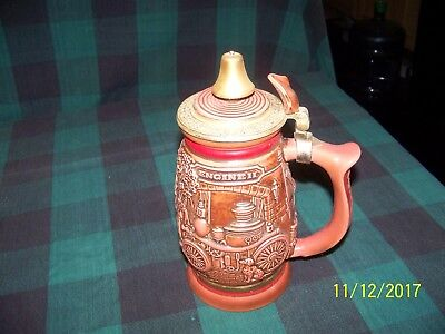 """Beer Stein """"tribute To American Firefighters"""" 1989-#273876"""