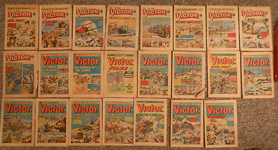 23 Issues of The Victor (UK Comic) - 1969 to 1974 (Please see Long Description)