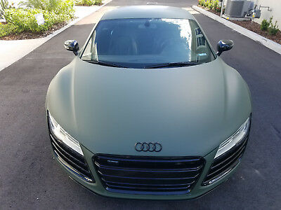 2015 Audi R8  2015 Audi R8 V8 Coupe with custom Matte Olive Green Wrap 12k miles