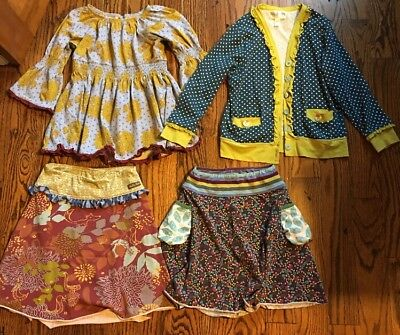 MATILDA JANE lot Of 4 Clothing Items Shirt 2 Skirts And A Cardigan Size 8