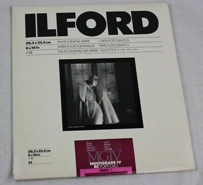 "Ilford 8x10"" MGIV Multigrade IV RC Portfolio Photographic Paper 25 Sheets New"