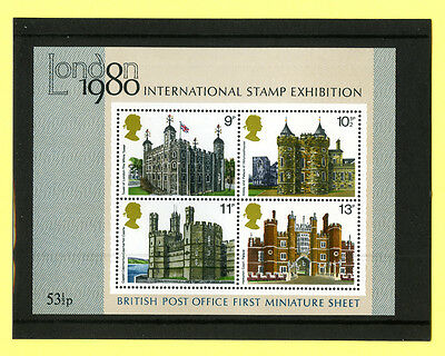 British Po First Miniature Sheet. London 1980 International Stamp Exhibition