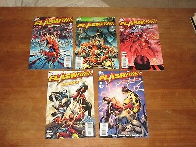 Flashpoint #1 2 3 4 5 Dc Complete Series High Grade Nm Reverse Flash Tv Show Wow