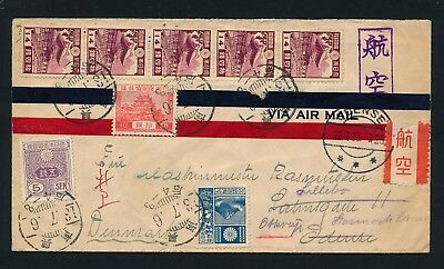 Japan. 1938. Colorful COVER to Denmark