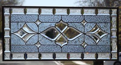 """•OH BABY•Beveled Stained Glass Window Panel -≈32 ¾""""x14 ¾""""(83x37Cm)"""