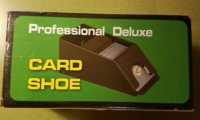 Professional Deluxe Card Shoe  Holds 2 Pack of Cards  Motion Dispenser (C23)