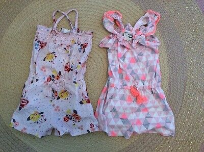cotton on kids girls two size 3 play suits vintage floral