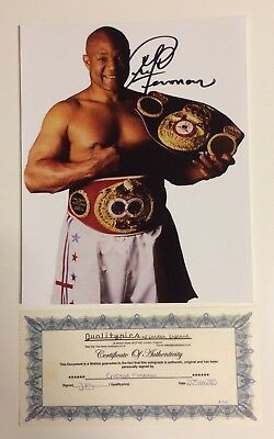 "George Foreman SIGNED AUTOGRAPHED Photograph 10"" x 8"" COA"