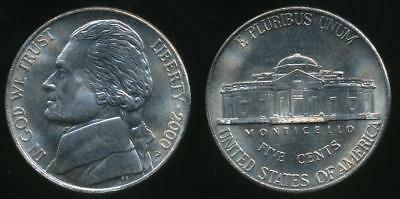 United States, 2000-P 5 Cents, Jefferson Nickel - Uncirculated