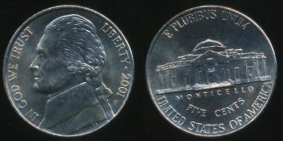 United States, 2001-P 5 Cents, Jefferson Nickel - Uncirculated