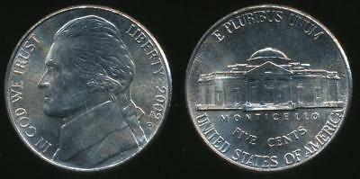 United States, 2002-P 5 Cents, Jefferson Nickel - Uncirculated