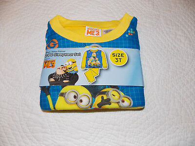 NEW Toddler Boys Flannel 2-pc Sleepwear Pajama Set Despicable Me3 FREE SHIPPING