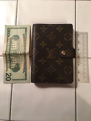 Louis Vuitton Small Ring Agenda Brown Monogram Cover Wallet