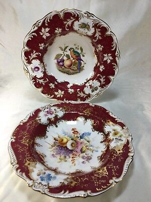 (2) Vintage Coalport OLD COALPORT Rimmed Soup Bowls #6919/2, 8411/C for TIFFANY