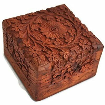 Home Decorative Boxes Decor Unique Art Hand Carved Rosewood Jewelry Storage