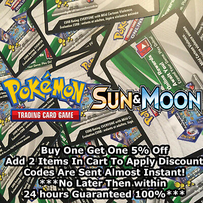 50x Sun and Moon Base Pokemon TCGO PTCGO TCG Online Codes Cards  Almost Instant