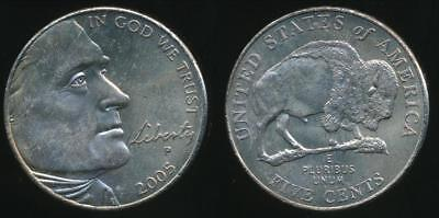 United States, 2005-P 5 Cents, Jefferson Nickel (American Bison) - Uncirculated