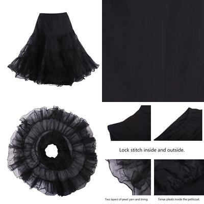 HDE Women's Plus Size Petticoat Vintage Swing Dress Underskirt Tutu Skirt (XX-La