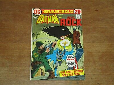 Brave And The Bold #108 Batman Sgt Rock High Grade Bronze Age Nm- 9.2  Wow!