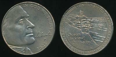 United States, 2005-P 5 Cents, Jefferson Nickel (Ocean in View) - Uncirculated