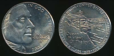 United States, 2005-D 5 Cents, Jefferson Nickel (Ocean in View) - Uncirculated