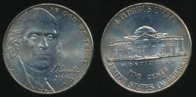 United States, 2006-P 5 Cents, Jefferson Nickel - Uncirculated