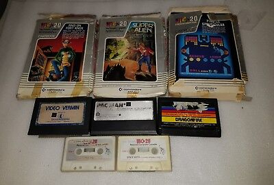 Vic-20 Vic 20 Games Lot Commodore