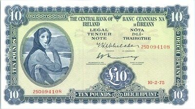 Irland 10 Pounds Lady Lavery - 1975