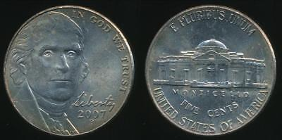 United States, 2007-P 5 Cents, Jefferson Nickel - Uncirculated