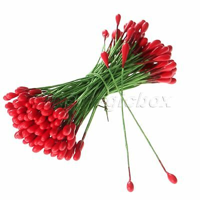 100Pcs Artificial Round Flower Stamens Double Sided Wedding Favor Greeting Cards