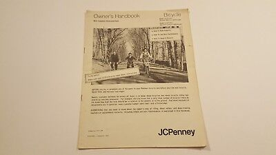 JCPenney Owners Bicycle Manual 1970s