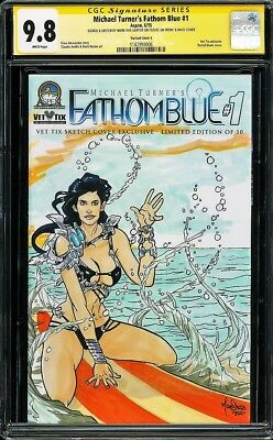 Michael Turner's Fathom Blue Cgc Ss 9.8 *highest Grade* One Of Just 50 Made