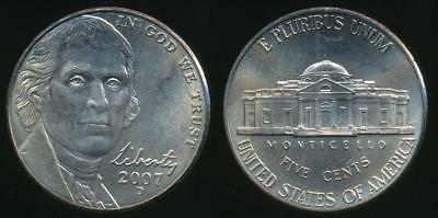 United States, 2007-D 5 Cents, Jefferson Nickel (Satin Finish) - Uncirculated