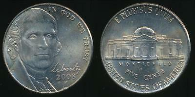 United States, 2008-P 5 Cents, Jefferson Nickel - Uncirculated
