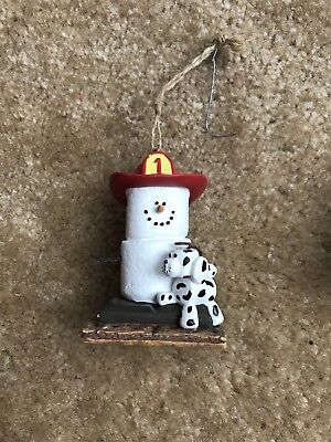 The S'mores Original Firefighter Dalmatian Ornament Midwest Christmas