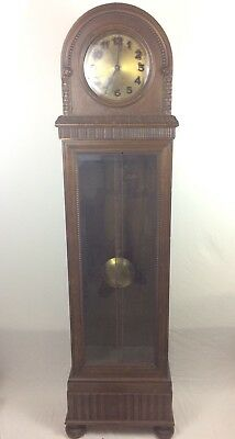 Dufa Elite Signed Oak Antique Early Grandfather Long Case Clock Germany German