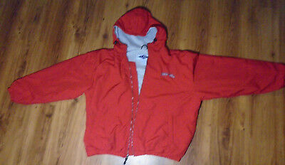 LAL Men's Coca-Cola Jacket Size 2XL Nylon Shell Red Hooded Polyester Lined Zip