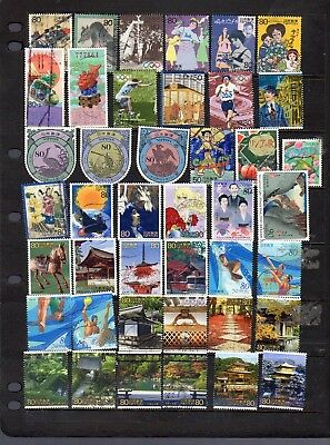 42 all different used stamps from Japan