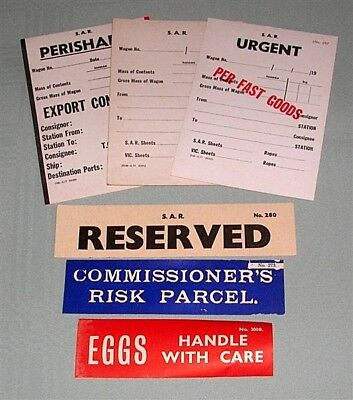SAR wagon cards & labels